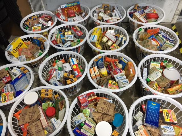 KidWorks Food Drive baskets